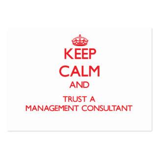 Guarde la calma y confíe en a un consultor en admi tarjetas de visita