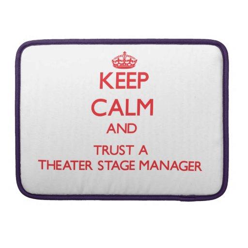 Guarde la calma y confíe en a un director de escen funda para macbook pro