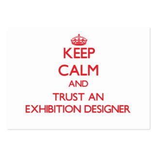 Guarde la calma y confíe en a un diseñador de la e plantilla de tarjeta de negocio