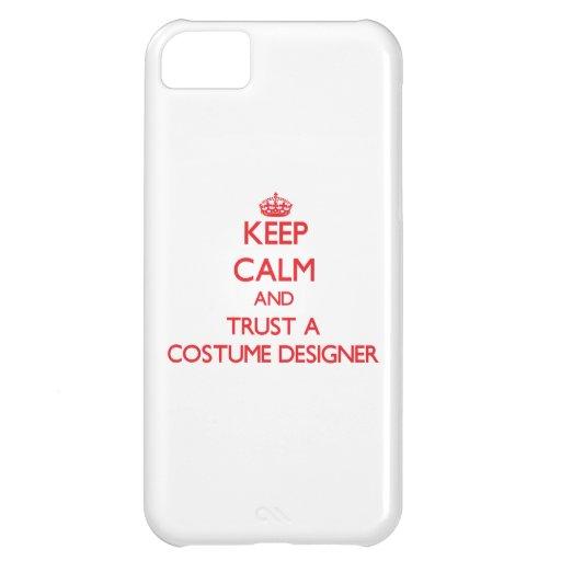 Guarde la calma y confíe en a un diseñador de vest funda para iPhone 5C