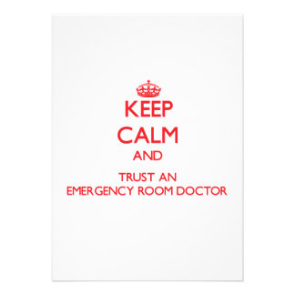 Guarde la calma y confíe en a un doctor de la sala comunicado personalizado