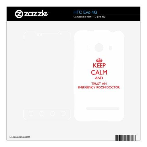 Guarde la calma y confíe en a un doctor de la sala skins para HTC evo 4G
