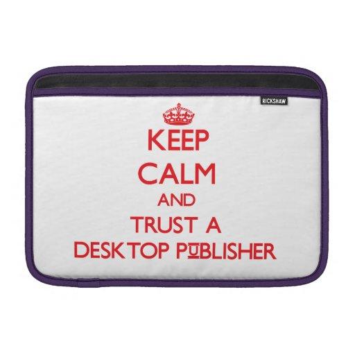 Guarde la calma y confíe en a un editor de escrito funda macbook air