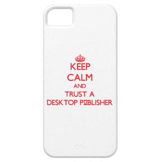 Guarde la calma y confíe en a un editor de iPhone 5 carcasa