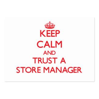 Guarde la calma y confíe en a un encargado de tien tarjeta de visita