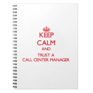 Guarde la calma y confíe en a un encargado del cen libro de apuntes con espiral