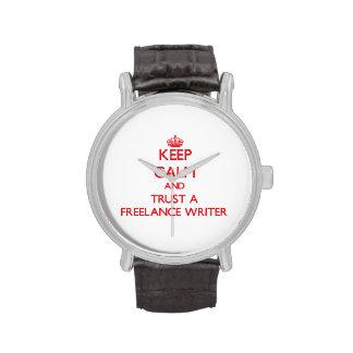 Guarde la calma y confíe en a un escritor free relojes