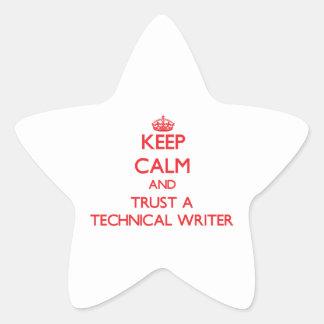 Guarde la calma y confíe en a un escritor técnico pegatinas