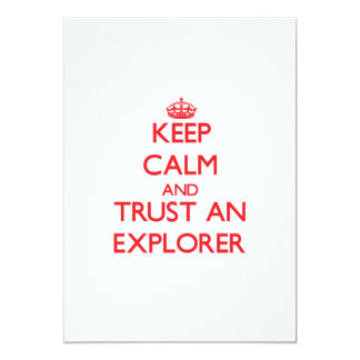 Guarde la calma y confíe en a un explorador comunicado