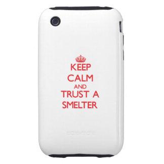 Guarde la calma y confíe en a un fundidor tough iPhone 3 protector