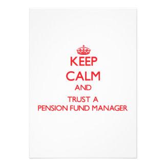 Guarde la calma y confíe en a un gestor de fondos anuncios