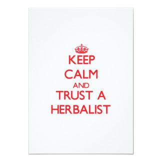 Guarde la calma y confíe en a un Herbalist Invitaciones Personales