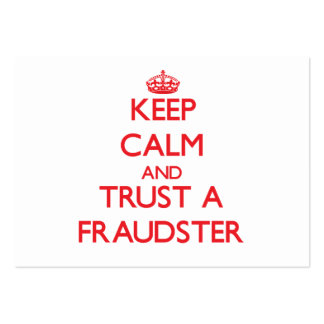 Guarde la calma y confíe en a un impostor plantilla de tarjeta de negocio