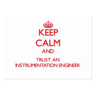 Guarde la calma y confíe en a un ingeniero de la i tarjetas de visita