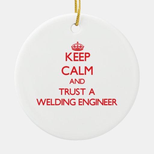 Guarde la calma y confíe en a un ingeniero de la s adornos