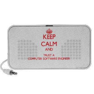 Guarde la calma y confíe en a un ingeniero de los  notebook altavoz