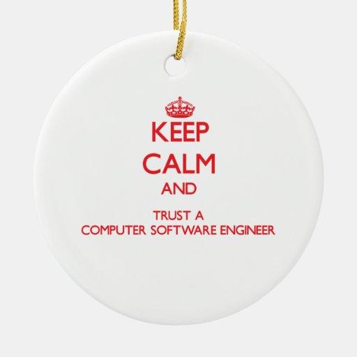 Guarde la calma y confíe en a un ingeniero de los  ornatos
