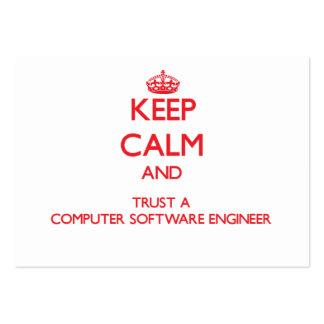 Guarde la calma y confíe en a un ingeniero de los  tarjetas de visita grandes