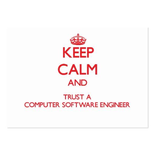 Guarde la calma y confíe en a un ingeniero de los  tarjetas de visita