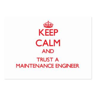 Guarde la calma y confíe en a un ingeniero del man tarjetas de visita grandes