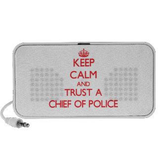 Guarde la calma y confíe en a un jefe de policía mini altavoces