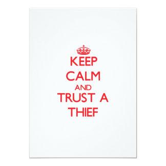 Guarde la calma y confíe en a un ladrón anuncio personalizado