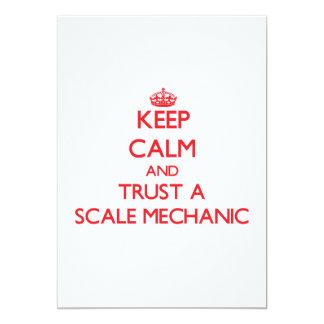 Guarde la calma y confíe en a un mecánico de la invitación 12,7 x 17,8 cm
