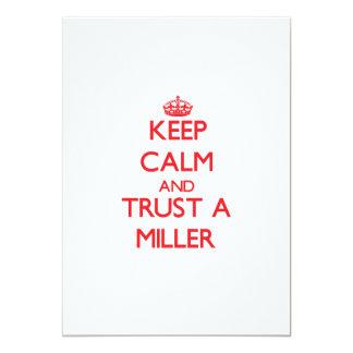 Guarde la calma y confíe en a un Miller Comunicados Personales