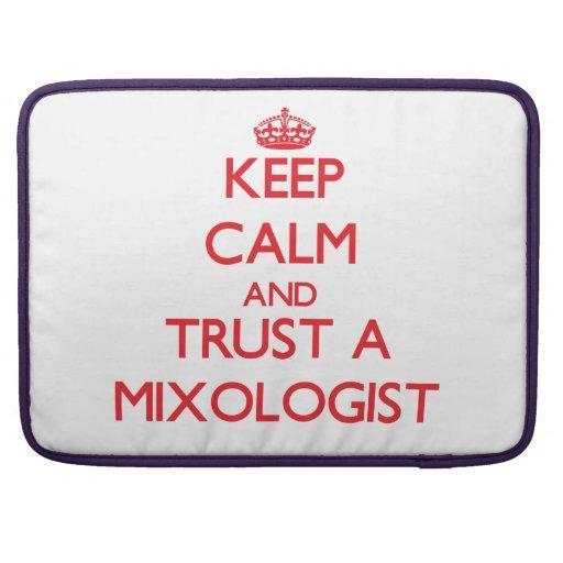 Guarde la calma y confíe en a un Mixologist Funda Macbook Pro
