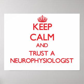 Guarde la calma y confíe en a un neurofisiólogo posters