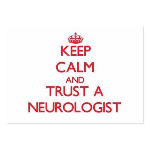 Guarde la calma y confíe en a un neurólogo tarjeta de visita