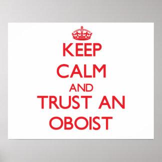 Guarde la calma y confíe en a un oboe posters