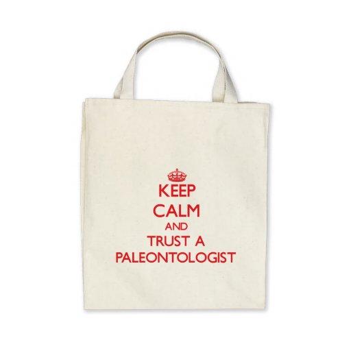 Guarde la calma y confíe en a un paleontólogo bolsas