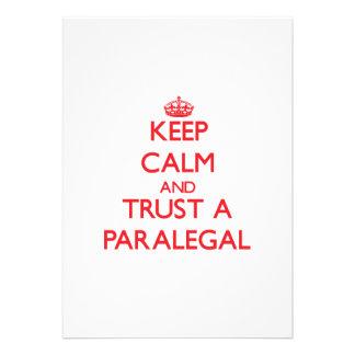 Guarde la calma y confíe en a un Paralegal Anuncios Personalizados