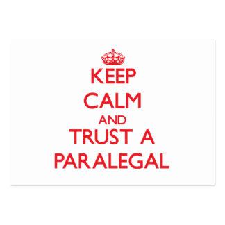 Guarde la calma y confíe en a un Paralegal Tarjetas De Visita