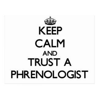 Guarde la calma y confíe en a un Phrenologist Tarjetas Postales