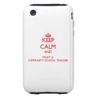 Guarde la calma y confíe en a un profesor de escue tough iPhone 3 protector