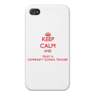 Guarde la calma y confíe en a un profesor de escue iPhone 4 cobertura