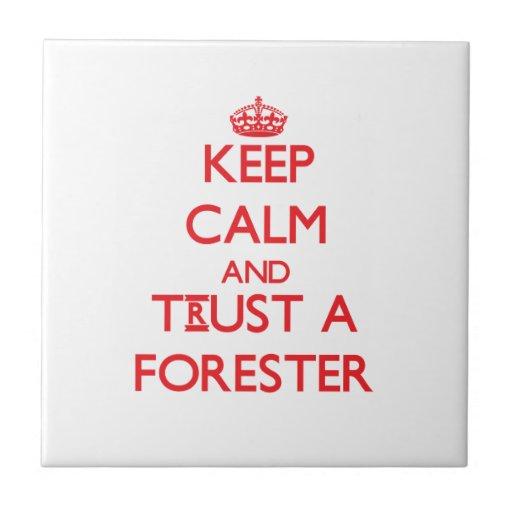 Guarde la calma y confíe en a un silvicultor tejas