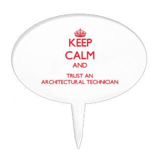 Guarde la calma y confíe en a un técnico arquitect figuras para tartas