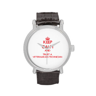 Guarde la calma y confíe en a un técnico veterinar relojes de mano