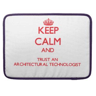 Guarde la calma y confíe en a un tecnólogo arquite funda para macbook pro