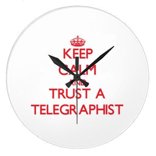 Guarde la calma y confíe en a un Telegraphist Reloj