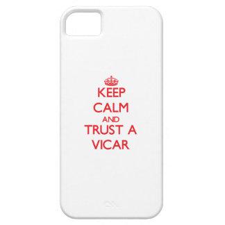 Guarde la calma y confíe en a un vicario iPhone 5 Case-Mate funda