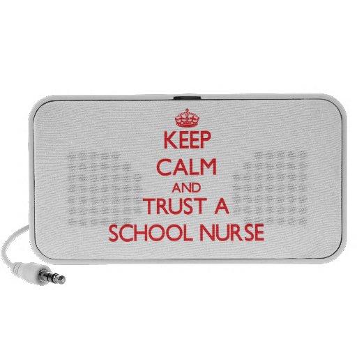 Guarde la calma y confíe en a una enfermera de la  portátil altavoces