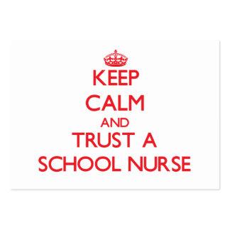 Guarde la calma y confíe en a una enfermera de la  tarjeta de visita