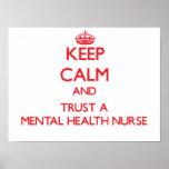 Guarde la calma y confíe en a una enfermera de sal poster