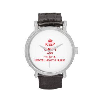 Guarde la calma y confíe en a una enfermera de sal relojes de pulsera