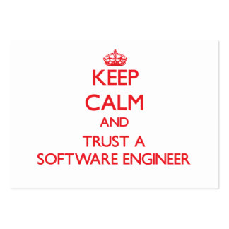 Guarde la calma y confíe en a una Software Enginee Tarjetas De Visita Grandes