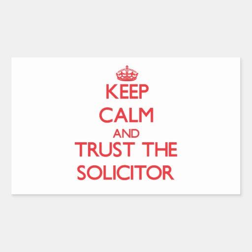 Guarde la calma y confíe en al abogado pegatina